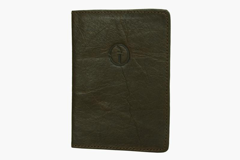 Indepal Leather ACCESSORY Crazy Horse Brown Passport Cover
