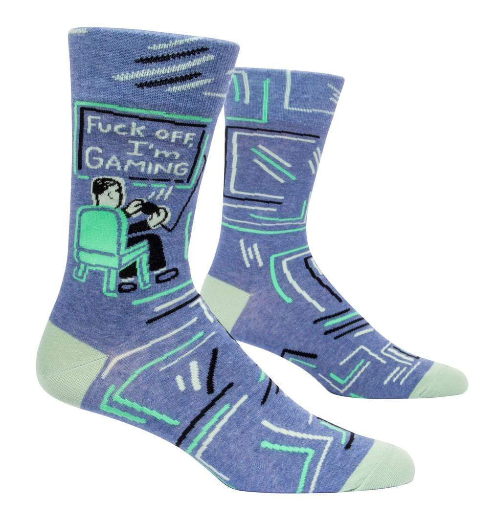 Indepal Leather ACCESSORY Default Blue Q Socks - F**k  Off Im Gaming