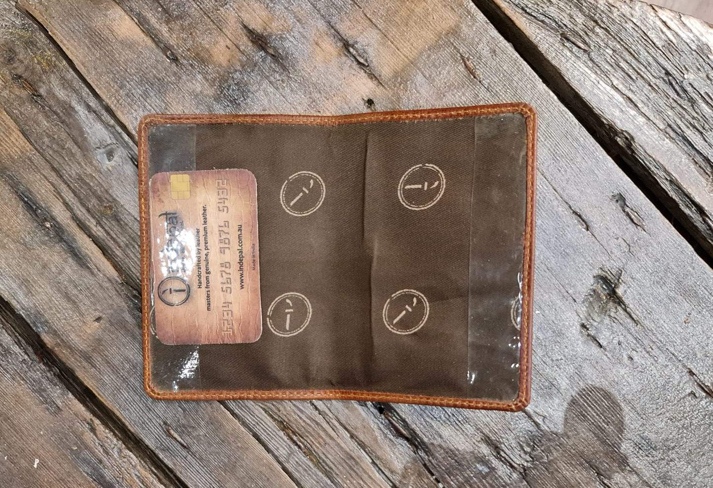 Indepal Leather ACCESSORY Passport Cover