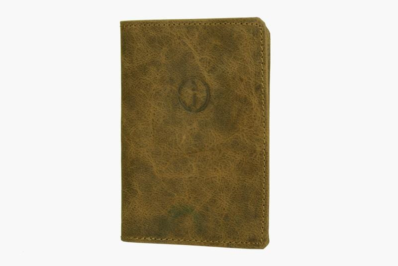 Indepal Leather ACCESSORY Tan Passport Cover