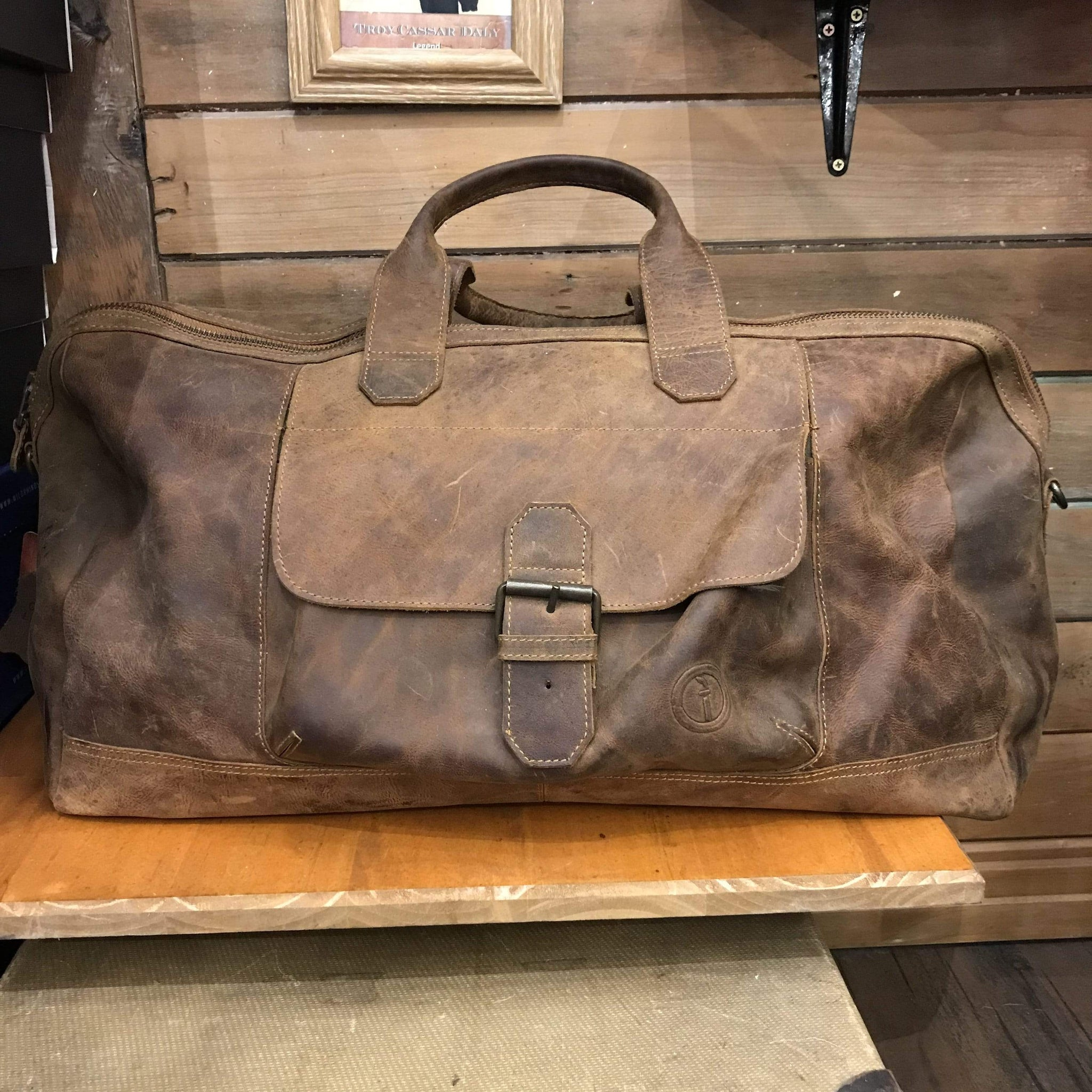 Indepal Leather BAGS Crazy Horse Tan Phileas Leather Duffle 22""