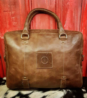 Indepal Leather BAGS Dusty Antique Yarra Satchel
