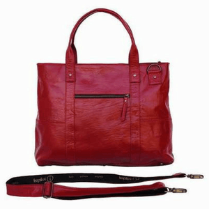 Indepal Leather BAGS Ruby Red Jeroboam Leather Tote