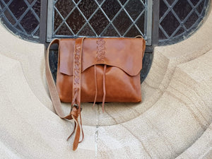 Indepal Leather BAGS Saffron
