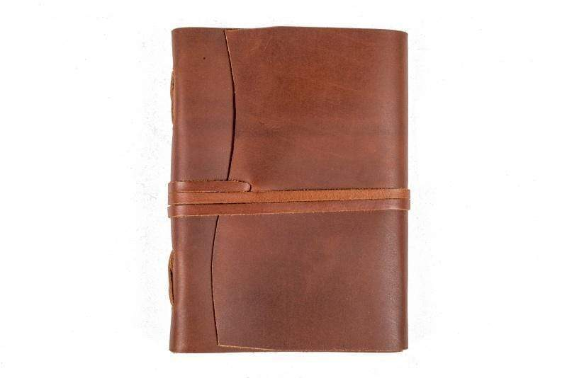 Indepal Leather JOURNAL Brown JOURNAL - Manaf  A5