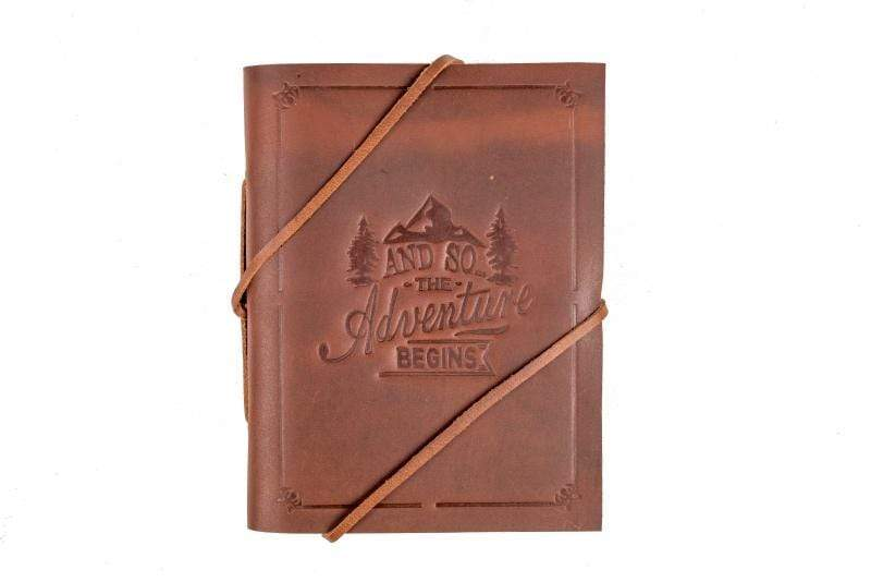 Indepal Leather JOURNAL Brown JOURNAL - The Adventure Begins