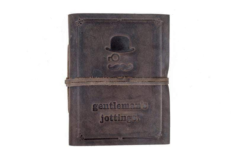 Indepal Leather JOURNAL Charcoal JOURNAL - Gentleman's Jottings