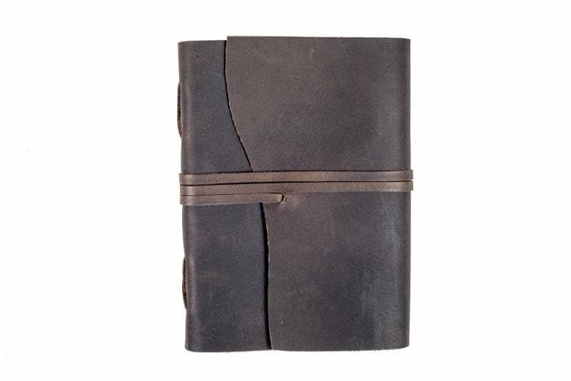 Indepal Leather JOURNAL Charcoal JOURNAL - Manaf  A5