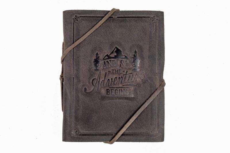 Indepal Leather JOURNAL Charcoal JOURNAL - The Adventure Begins