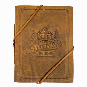 Indepal Leather JOURNAL Tan JOURNAL - The Adventure Begins