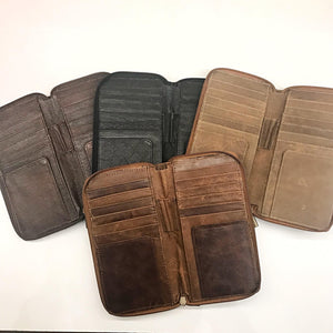 Indepal Leather WALLET Zipped Travel Wallet