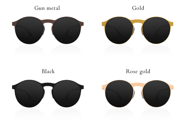All our different color of the frame for Looper Folding sunglasses.