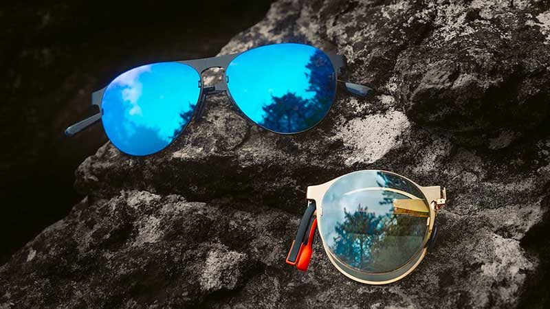 Wolt presents our foldable sunglasses with changeable lenses.