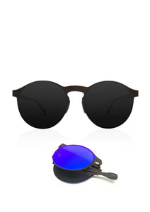 Foldable sunglasses - Looper classic round design - Front photo
