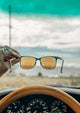 Foldable sunglasses - Rover classic wayfarer design - Lifestyle photo in car