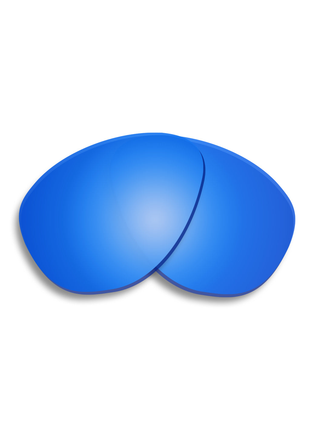 Blue extra lenses for folding aviator glasses