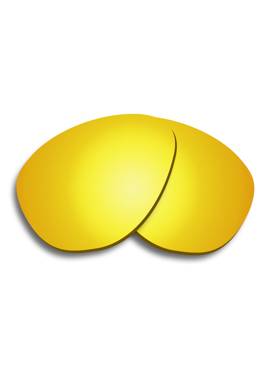 Yellow replacement lenses for our folding aviator sunglasses