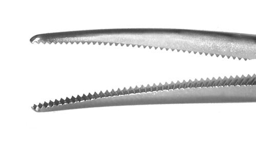 323R 4-121S Hartman Hemostatic Mosquito Forceps, Curved, Short, Length 75 mm, Stainless Steel