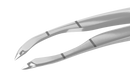 193R 4-032S Small-incision Capsulorhexis Forceps, Cystotome Tips, Curved MICRO-THIN Jaws, Fits through 2.00 mm incision, With limiter, Flat Handle, Length 104 mm, Stainless steel