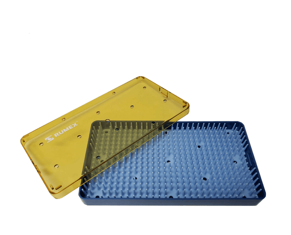 342R 18-302 Plastic Sterilizing Tray With Silicone Finger Mat, Square, 165.00 x 101.00 x 19.00 mm