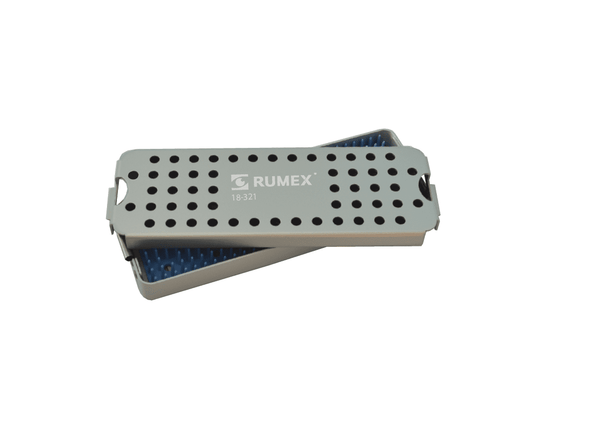 999R 18-321 Aluminum Sterilization tray with silicone mat, 2.50 x 7.75 x 0.80""