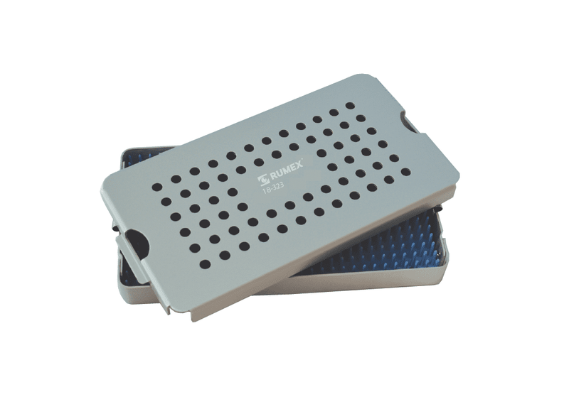 999R 18-323 Aluminum Sterilization tray with silicone mat, 4.25 x 7.75 x 1.50""