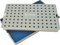 999R 18-324 Aluminum Sterilization tray with silicone mat, 6.25 x 10.25 x 0.80""