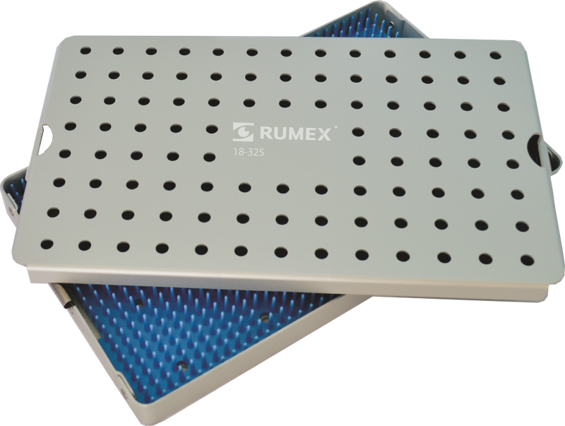 999R 18-325 Aluminum Sterilization tray with silicone mat, 6.25 x 10.25 x 1.50""