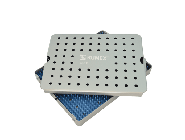 999R 18-331 Aluminum Sterilization tray with silicone mat, 6.50 x 8.50 x 0.80""