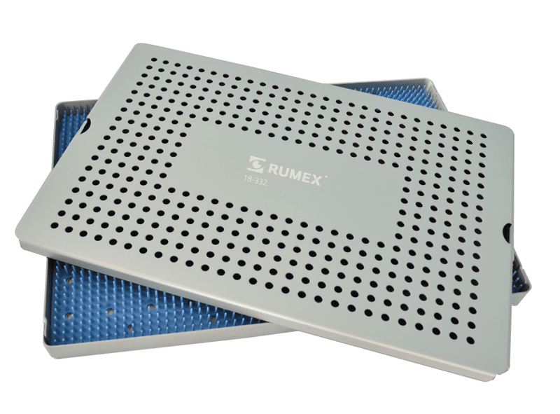 999R 18-332 Aluminum Sterilization tray with silicone mat, 9.25 X 12.25 x 0.80""