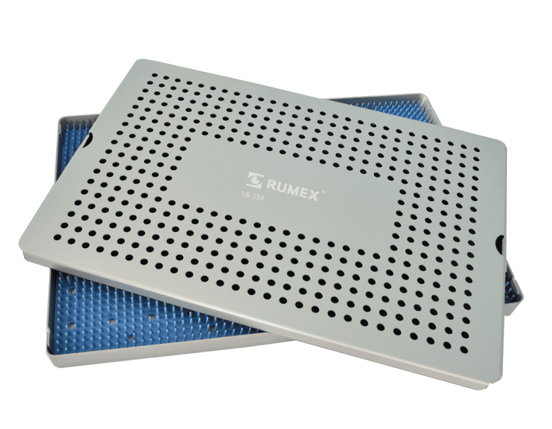 999R 18-334 Aluminum Sterilization tray with silicone mat, 10.50 x 15.50 x 0.80""