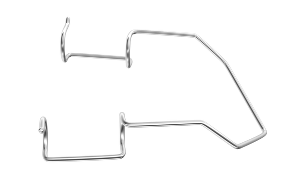 400R 14-025S Barraquer Wire Speculum, Open 18.00 mm Blades, Adult Size, Length 45 mm, Stainless Steel