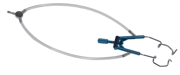 "096R 14-080A Lieberman Temporal Speculum, Adult Size, ""V"" Shaped 14.00 mm Blades, With Aspiration, Length 78 mm"