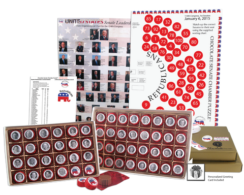 The Chocolate Senate Chamber Puzzle - REPUBLICAN VERSION™