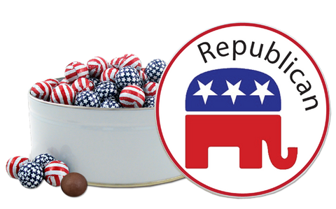 Republican Party Chocolate Tin™ with Patriotic Foiled Chocolates!