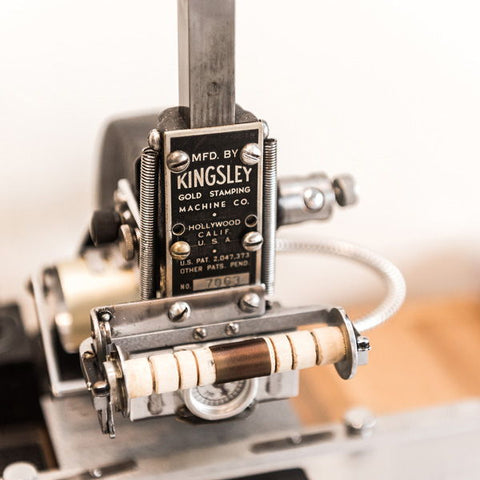 kingsley stamping machine for leather, heat embossed, monograming and personalization