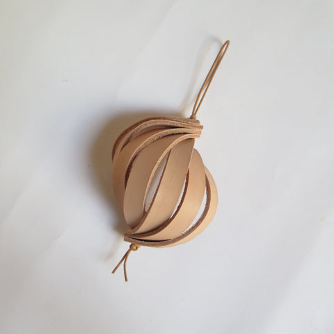 LEATHER SPIRAL ORNAMENT