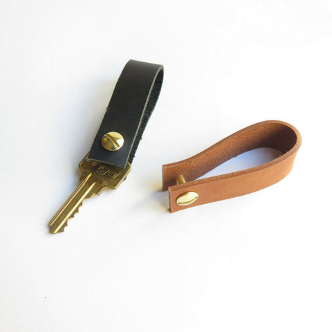 MINIMALIST LEATHER KEYCHAIN LOOP