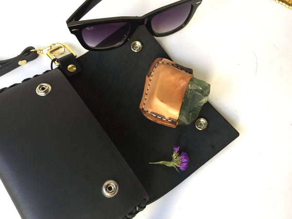 SMALL LEATHER PUFFY CLUTCH