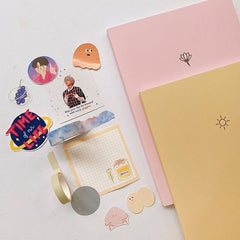 nadine pink notebook yellow notebook