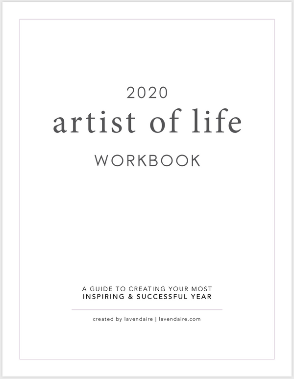 Cover page of Artist of Life Workbook