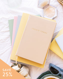 Daily Planner + Pastel Notebooks Set (Bundle)