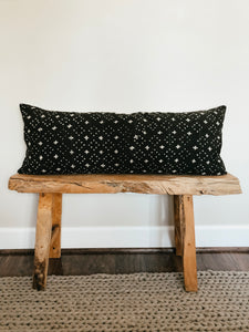 Mudcloth Black and Cream Cross Pillow Cover