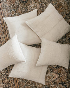 PRE-ORDER/MADE-TO-ORDER: Mudcloth Classic Cream Pillow Cover