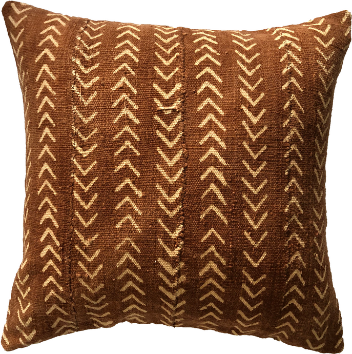 Mudcloth Rust Arrows Pillow Cover
