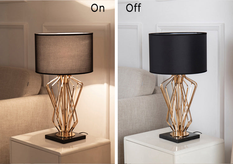 Medusa Table Lamp Black modern living interior