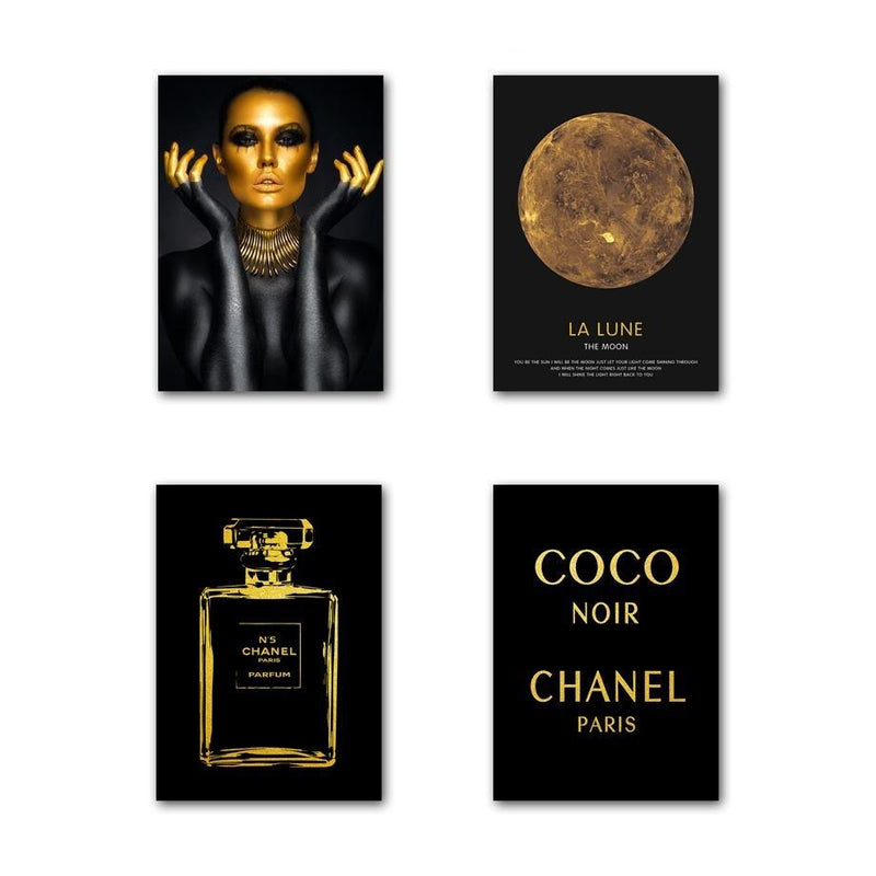 Coco Noir feelthestyle 4 Pieces (Discount) A4 21X30 cm / 8X12 Inch