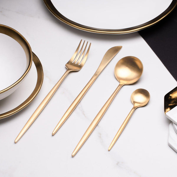 Sentona Blanco Gold - Silverware Set - Wallencia Home Decor