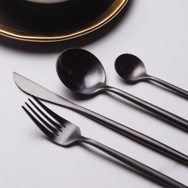 Sentona Blanco Black - Silverware Set - Wallencia Home Decor