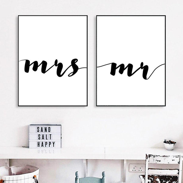 Mrs & Mr - Wallencia Home Decor
